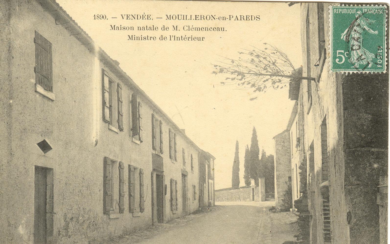 La maison natale de Georges Clemenceau en 1906
